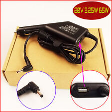 Laptop Car DC Adapter Charger & USB For Lenovo Ideapad 310-15IKB 80TV 110-15ACL