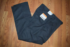 NWT Mens SAVANE Gray Microfiber Performance No Iron Pants Slacks W 36 L 34