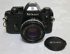 NIKON EM SLR CAMERA w 50mm f/1.8 SERIES E LENS VG CONDITION