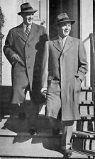 Newark Ohio~Roe Emerson Men's Store~Tweed Topcoats~Models~1950 Advertising PC