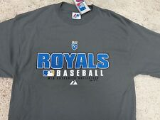 MLB Kansas City Royals Over Size T-SHIRT Majestic Authentic Collection Free Ship