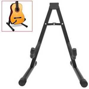 Soporte de Suelo para Guitarra Electrica Acustica Clasica Española y Bajo Negro
