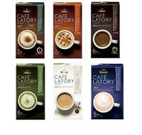 Ajinomoto, Cafe Latory, 6 flavor, Cafe Au Lait, Matcha, Tea with Milk, Japan
