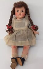 "Vintage Doll Composition Face 19"" Restoration Sleepy Eye Cloth Body Noise w/move"