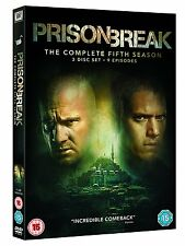 "PRISON BREAK COMPLETE SEASON 5 DVD BOX SET 3 DISC R4 ""NEW&SEALED"""