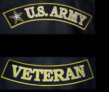 Large Back Rockers Patch Set US Army Veteran Patches for Jacket Vest New