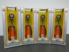 """LOT OF 4 JOHNSON CYLINDER GAS PUMP 5 1/2"""" TALL DIE CAST 1/18 ROAD SIGNATURE"""