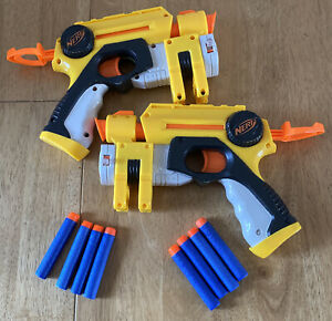 x2 Nerf Nite Finder Blaster Guns With Red Dot Laser Sight 2004 With 6 Darts