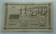 1000 Markka Finland 1922 aXF