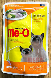 Me-O Real Mackerel in Jelly Adult Cat Food 80g