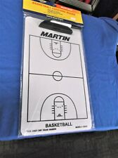 Martin Sports Basketball Dry Erase Coach Board wMarker 2 sided 9x15 Free Postage