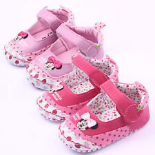 Cute Baby Girl Minnie Mouse Soft Sole Crib Pram Shoes Prewalker Sneaker Trainers