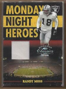 2006 Donruss Classics Monday Night Heroes Jerseys #25 Randy Moss Jersey /250