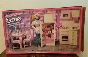 Barbie Sweet Roses Dining Table & Chairs Dining Room Set Formal to Casual NIB