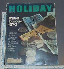 HOLIDAY MAGAZINE 1970 JANUARY BRUSSELS MAJORCA SCOTCH MALT WHISKEY PARIS