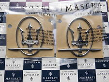 2 x Emblem Tridente MASERATI  Quattroporte / Ghibli 2014 Original NEU Badge