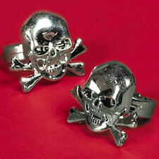24 Plastic Pirate Skull Rings Kid's Birthday Party Favors