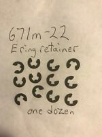 LIONEL 671m-22 e ring retainer for use with 671 armature shaft  One dozen