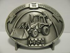 Case 580E Tractor Backhoe Loader Belt Buckle 1987 Parts Trade Fair  Ltd Ed #273
