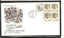 US Scott #1584 Ballot Box FDC. Artcraft Cachet.