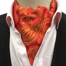 Mens Stylish Paisley Polka Dots Long Scarves Cravat Ascot Wedding Party Neckties