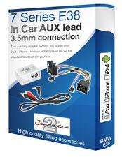 BMW 7 Series Aux plomo, iPod iPhone Reproductor de MP3, Kit de Adaptador Auxiliar Bmw
