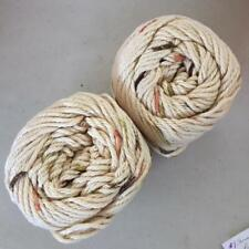 #27 Lot of 2 Peaches n Cream Yarn 190 yds 4 oz Total 100% Cotton Oasis