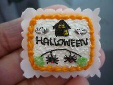 Dollhouse Miniatures Clay Halloween Sheet Cake Fancy Night Festival -4
