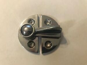 Round Twist Lock Door Catch Latch cabinet Hardware - Chrome Finish