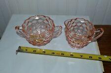 Pink depression glass Cream & Sugar set