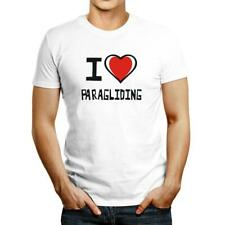 New listing I love Paragliding Bicolor Heart T-shirt