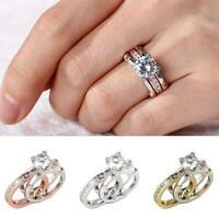 Paar Ringe Frauen Exquisite Ringe Set Einfache Edelstahl Männer Ring Modeschmuck