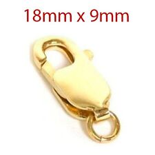 Large Lobster Claw Clasp w/ Jump Ring 14K Yellow Gold
