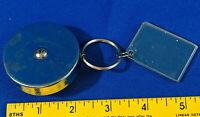 KEYBAK-Original Self Retractable Key Ring Reel Chain VTG Heavy Duty Metal