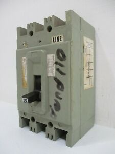 FPE Federal Pacific HEF631030 30 Amp 600V 3-Pole Type HEF AB Circuit Breaker 30A