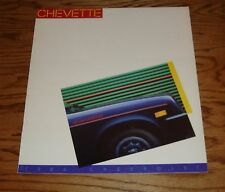 Original 1986 Chevrolet Chevette Sales Brochure 86 Chevy