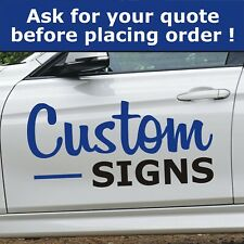 Custom Car Vehicle Shop Office Business Logo Sign Signage Sticker Decal Vinyl