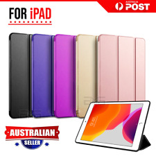 "For Apple iPad 10.2"" 7th Generation 7 Gen 2019 Leather Smart Folio Case Cover"