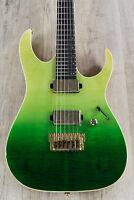 Ibanez LHM1 Luke Hoskin Signature Guitar, Transparent Green Gradation