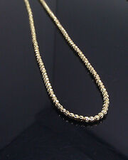 """Brand New Moon Cut Chain 30"""" Long 2.5mm A14B4 In Yellow Gold Rope, Franco, Cuben"""
