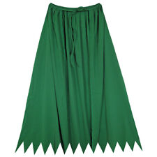 "32"" Green Cape ~ HALLOWEEN SUPERHERO, WITCH, WIZARD, KING COSTUME SAWTOOTH CAPE"