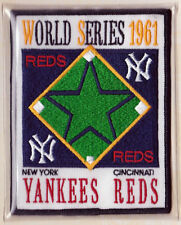 1961 World Series New York Yankees vs Cincinnati Reds Willabee & Ward Patch Only