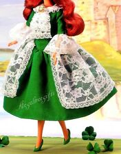 Ireland Irish DOTW green dress fits model muse silk stone royalty Barbie