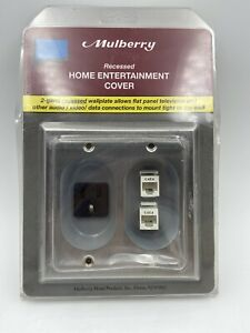 STAINLESS STEEL MULBERRY RECESSED HOME ENTERTAINMENT COVER   Rated 15amps Cat 6
