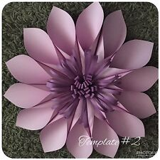 Hard Copy Paper Flower Template #2, DIY Paper Flower Backdrops, Flower Petal