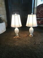 Mid Century Modern Milk Glass Gold Atomic 3D Starburst Lamps True Vintage 👌