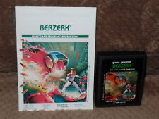 VINTAGE ATRI & SEARS VIDEO COMPUTOR SYSTEM GAME  BERZERK WITH MANUAL WORKING