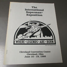 1988 International Superman Exposition Program Sc Fvf 14 pgs Fanzine