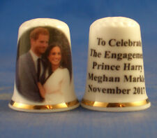 Birchcroft China Thimble -- Prince Harry and Meghan Markle Engagement