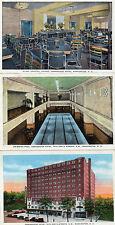 Art Deco tinted 3x postcards Ambassador Hotel Washington D.C.. unposted